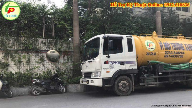 hút bể phốt huyện Thạch Thất