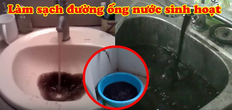 cach lam sach duong ong nuoc sinh hoat