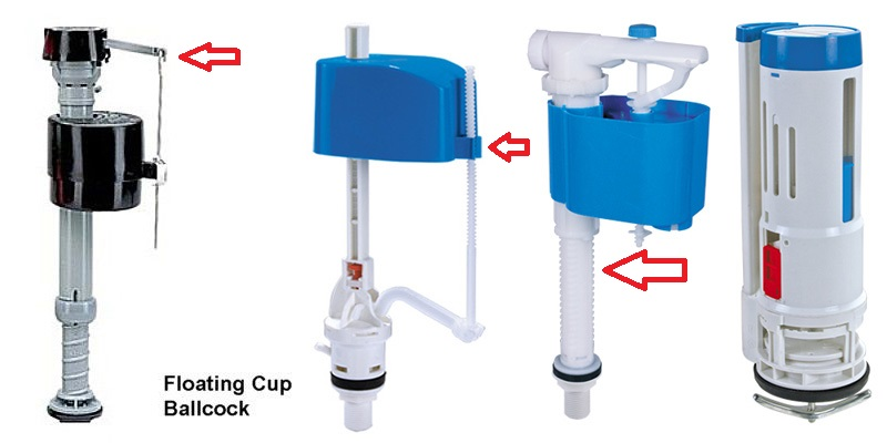 Cách điều chỉnh phao nước dạng nổi của bồn cầu