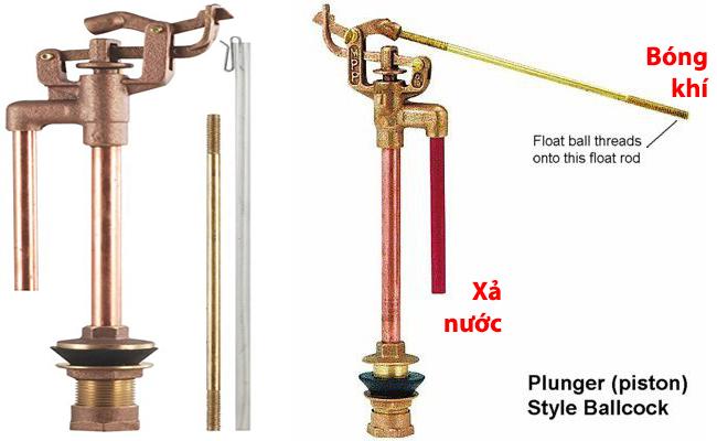 Cách điều chỉnh phao nước bồn cầu dạng Pittong