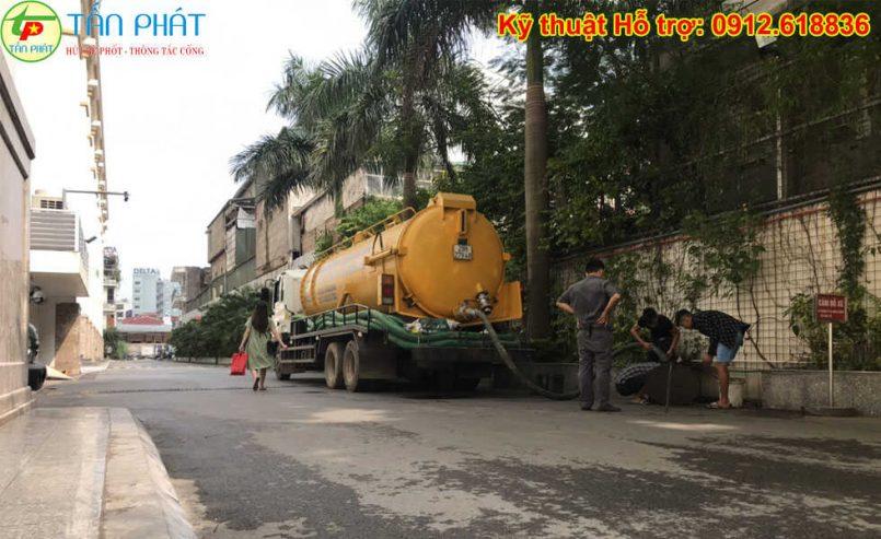 hút bể phốt quận Hoàng Mai