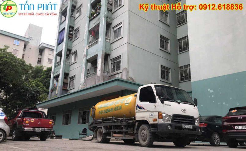 hút bể phốt quận Long Biên