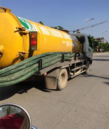 Xe hút bể phốt tại Khương trung