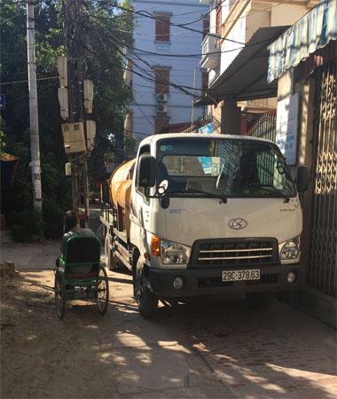 Xe hút bể phốt tại Quang trung